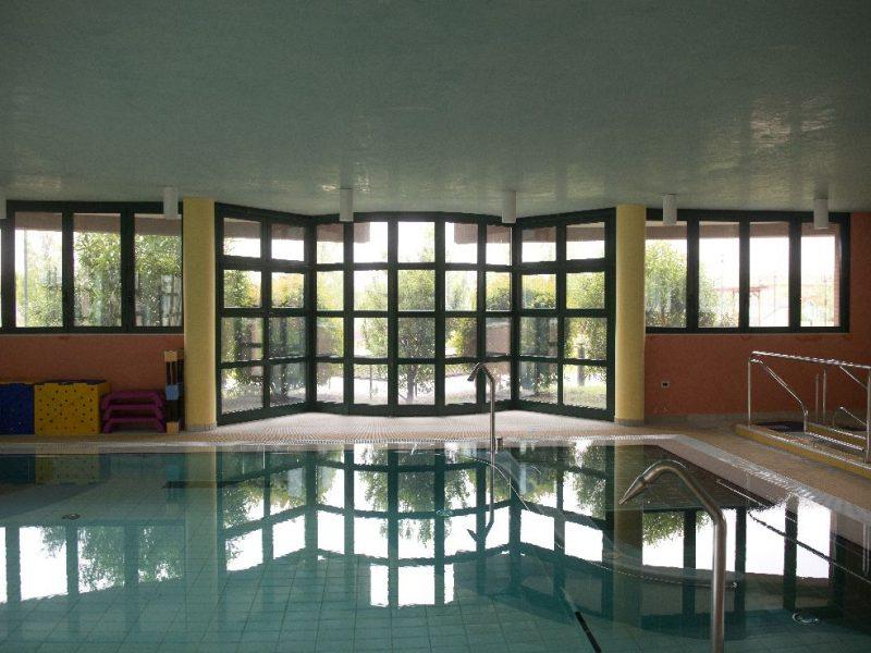 la piscina riabilitativa della RSA S.Chiara, accessibile per gli Ospiti del Residence Airone