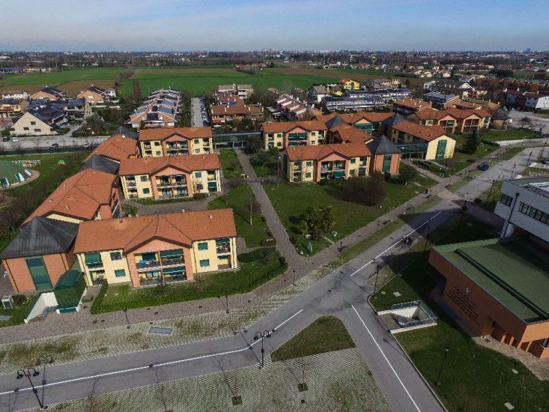 visione area da drone del Residence Airone