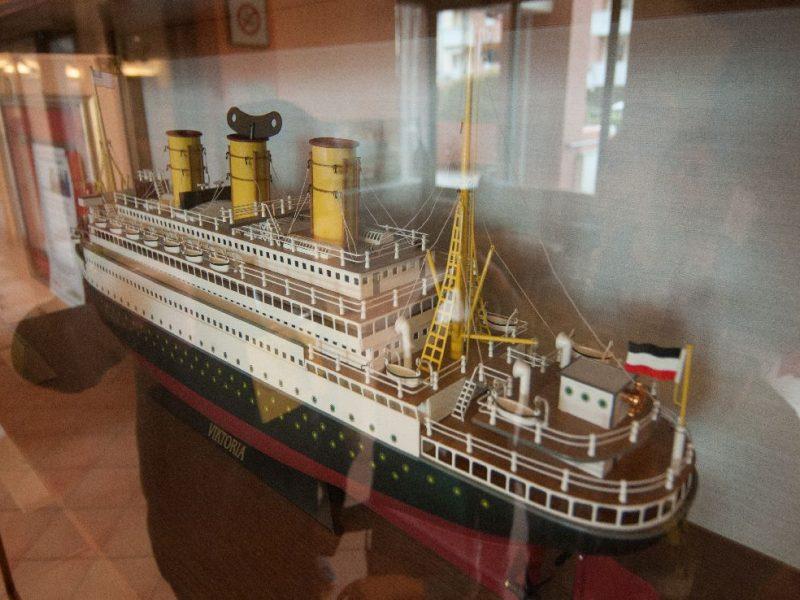 modello di nave crociera dei primi del '900