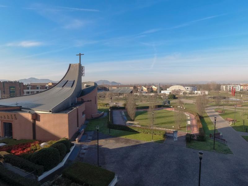 vista dall'alto di una parte del Parco delle Esperienze